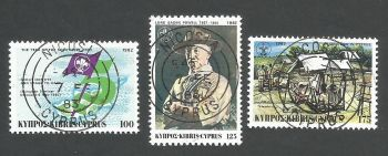 Cyprus Stamps SG 592-94 1982 Boy Scouts - CTO USED (L179)