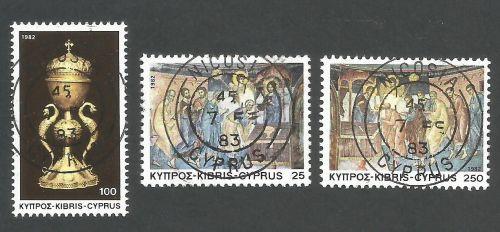 Cyprus Stamps SG 595-97 1982 Christmas - CTO USED (L178)