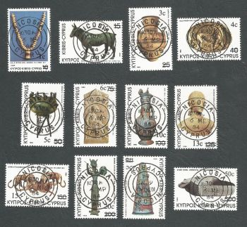 Cyprus Stamps SG 607-18 1983 New currency definatives overprints - CTO USED (L205)