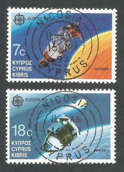Cyprus Stamps SG 798-99 1991 Europa Space - CTO USED (L176)