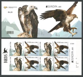 Cyprus Stamps SG 2019 (d) Europa National Birds - Booklet MINT