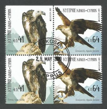 Cyprus Stamps SG 2019 (d) Europa National Birds - Booklet Pane CTO USED (L170)