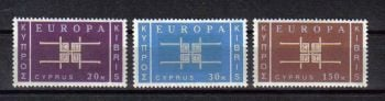 Cyprus Stamps SG 234-36 1963 Europa CEPT - MH