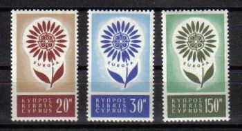 Cyprus Stamps SG 249-51 1964 Europa Flower - MH