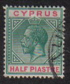 Cyprus Stamps SG 075 1912 1/2 Piastre King George V - USED (e445)
