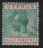 Cyprus Stamps SG 075 1912 Half Piastre - USED (e447)