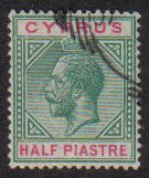 Cyprus Stamps SG 075 1912 Half Piastre - USED (E446)