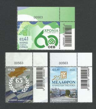 Cyprus Stamps SG 2020 (g) Anniversaries and Events EOKA, Melathron Agoniston and the OEB - Control numbers MINT