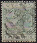 Cyprus Stamps SG 016a 1882 Half Piastre - Used (d948)