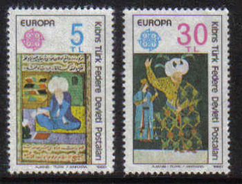 North Cyprus Stamps SG 091-92 1980 Europa - MINT