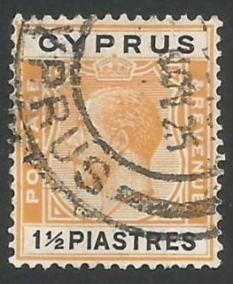 Cyprus Stamps SG 107 1924 1 1/2 Piastres - USED (L259)