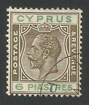 Cyprus Stamps SG 112 1924 Six Piastres - USED (L262)