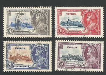 Cyprus Stamps SG 144-47 1935 King George V Silver Jubilee - USED (L264)