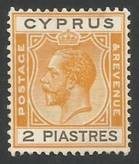 Cyprus Stamps SG 121 1925 3rd Definitives 2 Piastres - MLH (L258)