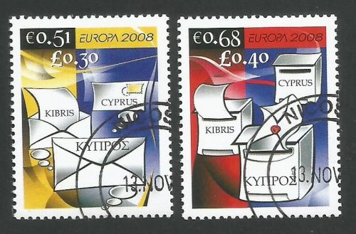 Cyprus Stamps SG 1162-63 2008 Europa The Letter - CTO USED (L272)