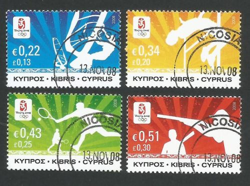 Cyprus Stamps SG 1165-68 2008 Beijing Olympic Games - CTO USED (L271)