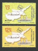 North Cyprus Stamps SG 2020 (b) Europa Ancient Postal Routes  - MINT