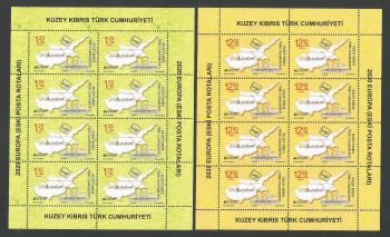 North Cyprus Stamps SG 2020 (b) Europa Ancient Postal Routes  - Full Sheets MINT