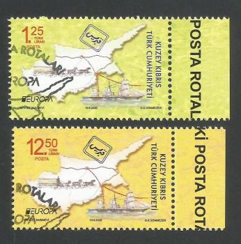 North Cyprus Stamps SG 2020 (b) Europa Ancient Postal Routes  - CTO USED (L279)