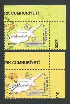 North Cyprus Stamps SG 2020 (b) Europa Ancient Postal Routes  - CTO USED (L282)