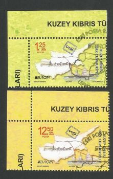 North Cyprus Stamps SG 2020 (b) Europa Ancient Postal Routes  - CTO USED (L283)