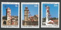 Cyprus Stamps SG 625-27 1983 Christmas Church Towers - Specimen MLH