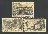 Cyprus Stamps SG 628-30 1984 Old Engravings - Specimen MLH