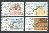 Cyprus Stamps SG 635-38 1984 Los Angeles Olympic Games USA - Specimen MLH