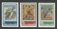 Cyprus Stamps SG 670-72 1985 Christmas Church Frescoes - Specimen MLH