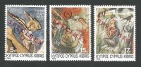 Cyprus Stamps SG 692-94 1986 Christmas - Specimen MLH
