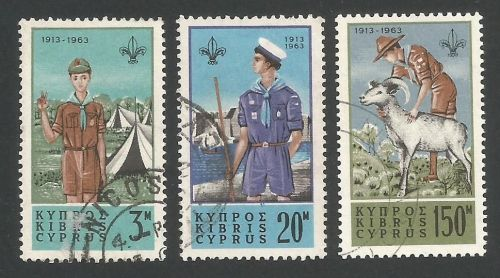 Cyprus Stamps SG 229-31 1963 Boy Scouts - USED (L286)