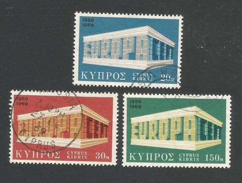 Cyprus Stamps SG 345-47 Europa Sun - USED (L288)