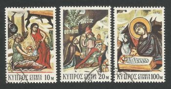 Cyprus Stamps SG 397-99 1972 Christmas - USED (L292)