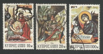 Cyprus Stamps SG 397-99 1972 Christmas - USED (L291)