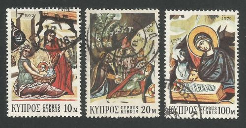Cyprus Stamps SG 397-99 1972 Christmas - USED (L291)