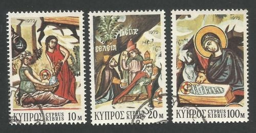 Cyprus Stamps SG 397-99 1972 Christmas - USED (L290)