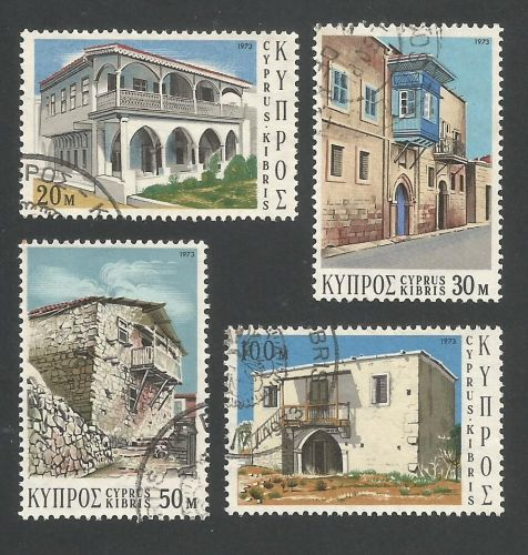 Cyprus Stamps SG 406-09 1973 Traditional Cypriot architecture - USED (L293)