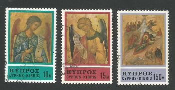Cyprus Stamps SG 478-80 1976 Christmas - USED (L297)