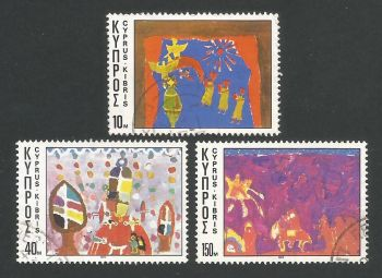 Cyprus Stamps SG 497-99 1977 Christmas - USED (L299)