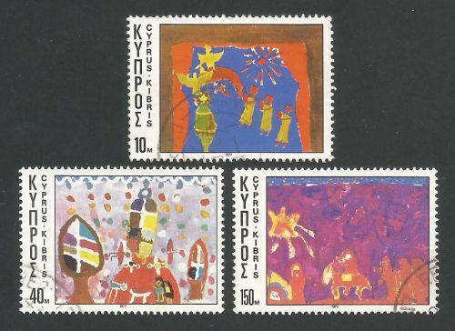 Cyprus Stamps SG 497-99 1977 Christmas - USED (L299)