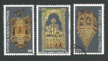 Cyprus Stamps SG 564-66 1980 Christmas - USED (L301)