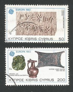 Cyprus Stamps SG 602-03 1983 Europa - USED (L302)