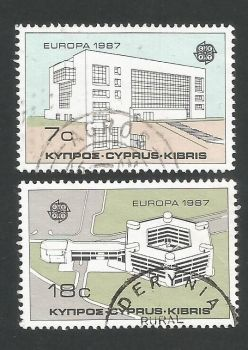 Cyprus Stamps SG 704-05 1987 Europa Modern Architecture - USED (L306)