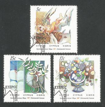 Cyprus Stamps SG 713-15 1987 Christmas - USED (L308)