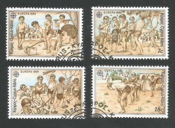 Cyprus Stamps SG 740-43 1989 Europa Childrens games - USED (L309)