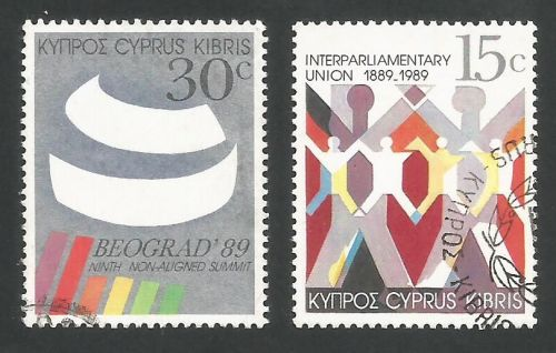Cyprus Stamps SG 745-46 1989 Non Alligned Nations Conference - USED (L310)