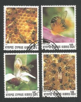 Cyprus Stamps SG 748-51 1989 Bees - USED (L311)