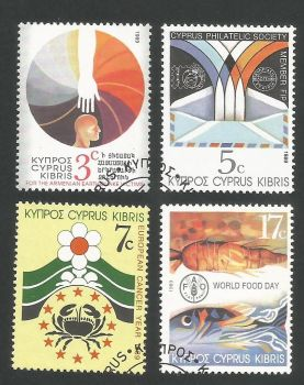 Cyprus Stamps SG 752-55 1989 Anniversaries and Events - USED (L312)