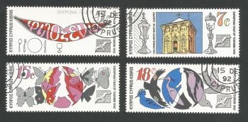 Cyprus Stamps SG 776-79 1990 Tourism Year - USED (L314)