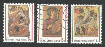 Cyprus Stamps SG 791-93 1990 Christmas Icons - USED (L316)